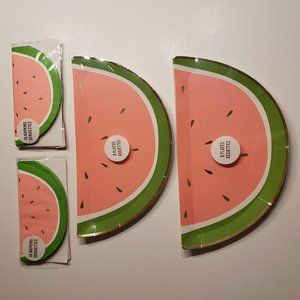 Watermelon Paper Plates (16) and Napkins (32)